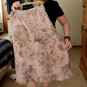 Pendleton ruffle hem, fully lined skirt